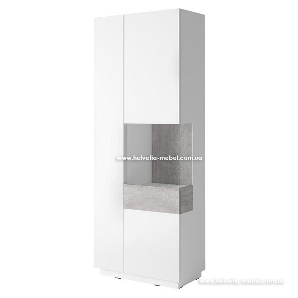 Витрина Silke 13 белый-бетон