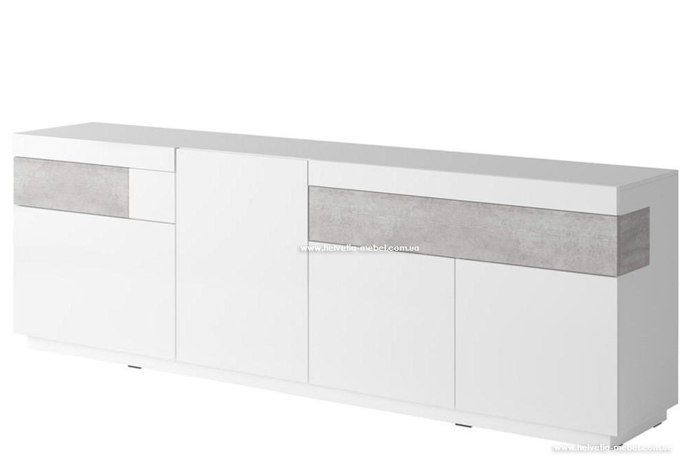Комод Silke 25 белый-бетон