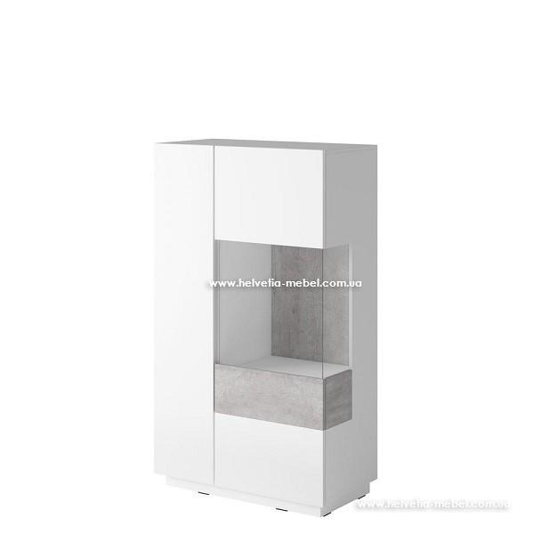 Комод высокий Silke 44 белый-бетон