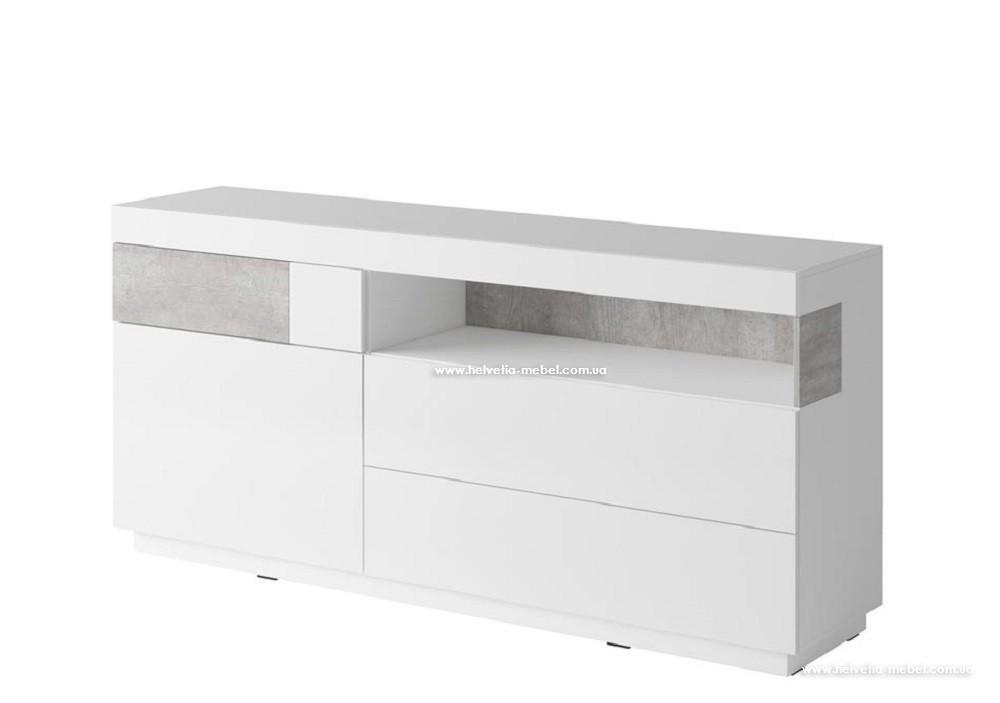 Комод Silke 47 белый-бетон