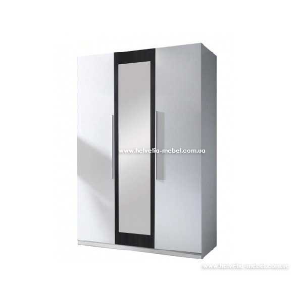 Шкаф 3дв Vera Helvetia 19 белый / черный орех