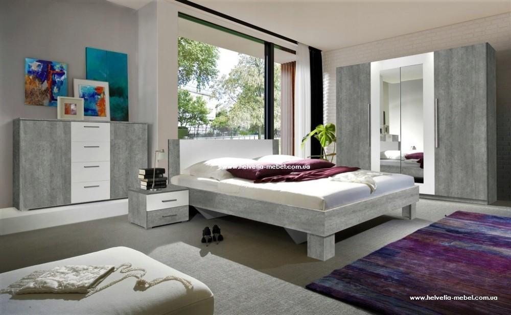 Комплект спальни Vera Helvetia бетон колорадо