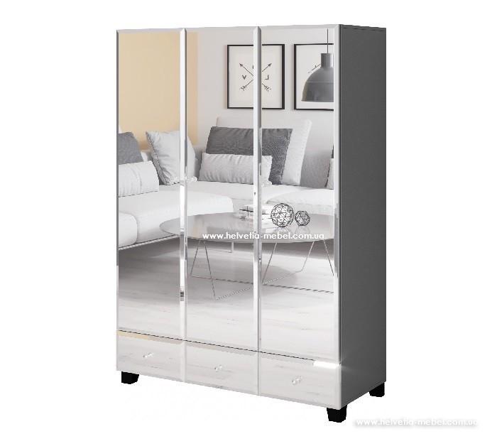 Шкаф 3дв 3ш Bellagio Helvetia 19 серый
