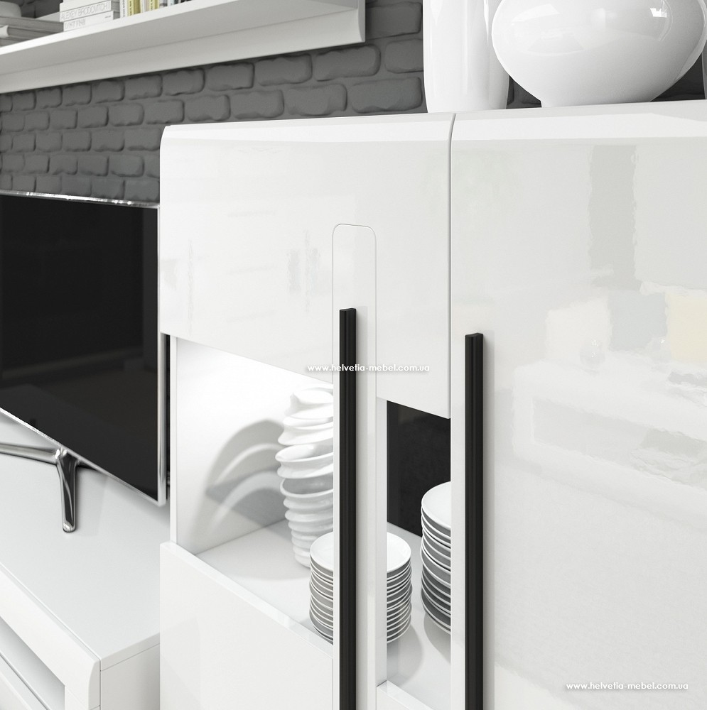 Комод 3Dвысокий TULSA 48 белый глянец