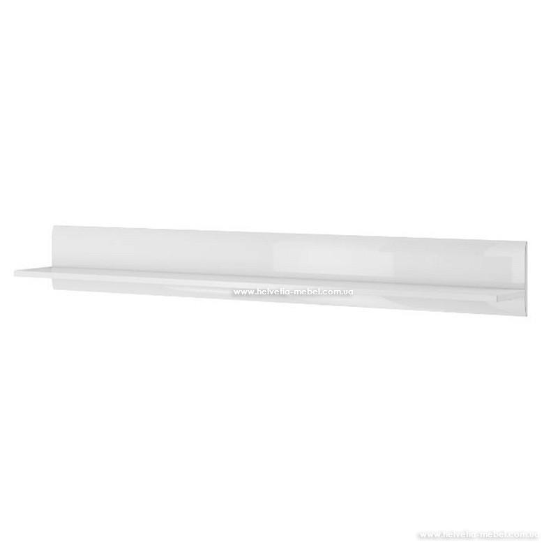 Полка 160 TULSA 01 белый глянец