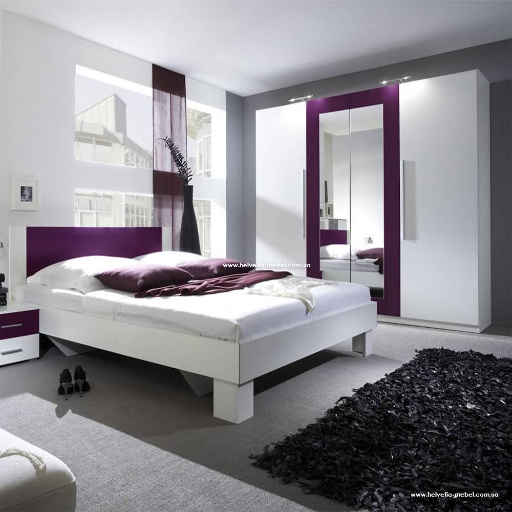 Комплект спальни Vera Белый/лиловый